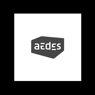 Logo Aedes voor case