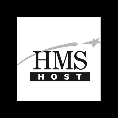 Logo HMS Host voor case
